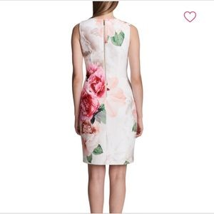 Floral Sleeveless Sheath Dress from Calvin Klein
